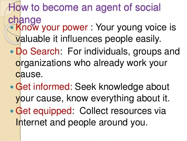 agents of social change