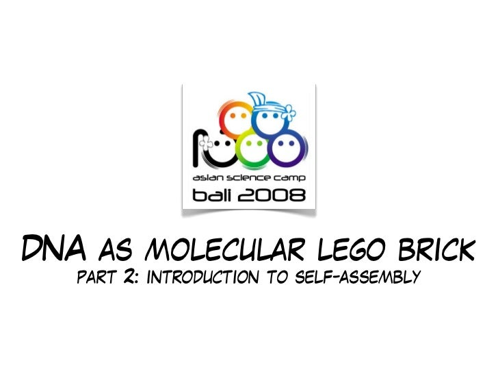 DNA as molecular lego brick    part 2: introduction to self-assembly