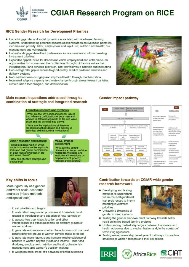  Testing the gender empowerment pathway towards better nutrition in rice-based farming systems  Understanding tradeoffs/...