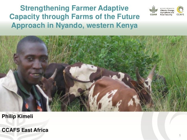 Strengthening Farmer Adaptive Capacity through Farms of the Future Approach in Nyando, western Kenya Philip Kimeli CCAFS E...