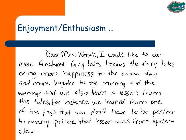 Enjoyment/Enthusiasm …