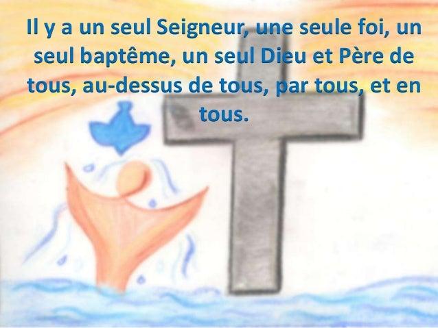 Et les dons qu'il a faits, ce sont les Apôtres, et aussi les prophètes, les évangélisateurs, les pasteurs et ceux qui ense...