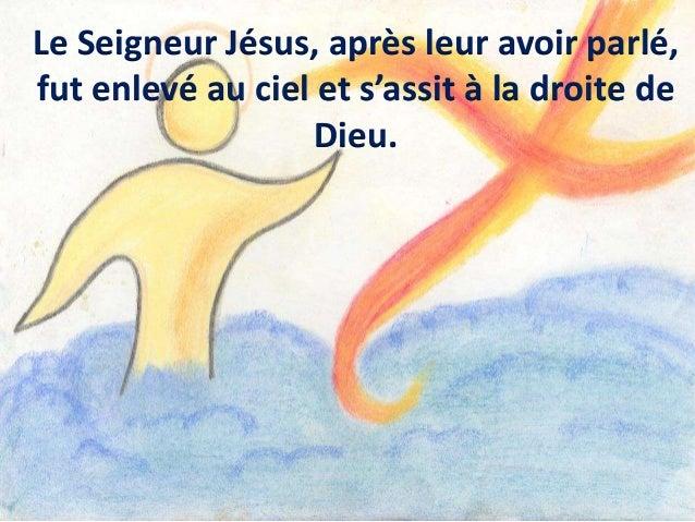 Saint ! Saint ! Saint, le Seigneur Dieu de l'univers ! Le ciel et la terre sont remplis de ta gloire. Hosanna au plus haut...