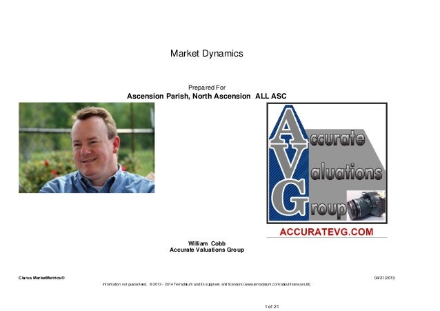 04/21/2013Clarus MarketMetrics®Information not guaranteed. © 2013 - 2014 Terradatum and its suppliers and licensors (www.t...