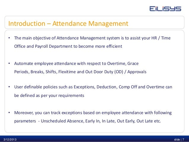 Ascent attendance & leave management presentation