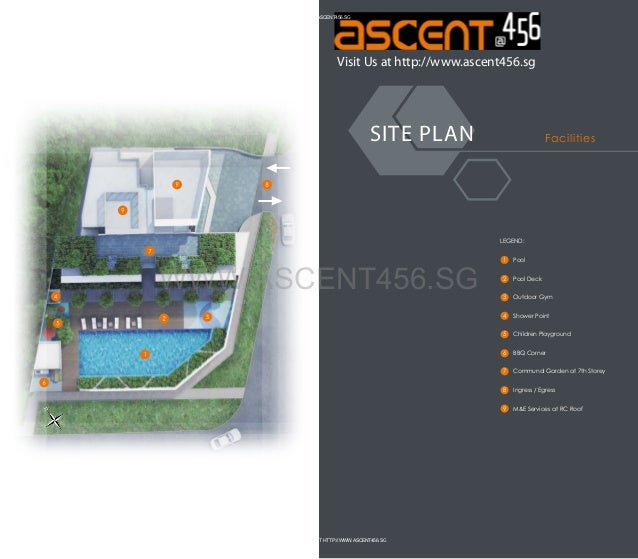 HTTP://WWW.ASCENT456.SG  Visit Us at http://www.ascent456.sg  SITE PLAN  Facilities  LEGEND:  2  Pool Deck  3  Outdoor Gym...