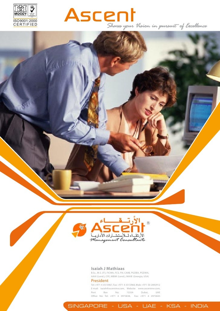 ISO 9001: 2000CERTIFIED                            Shares your Vision in pursuit of Excellence                      Isaiah...