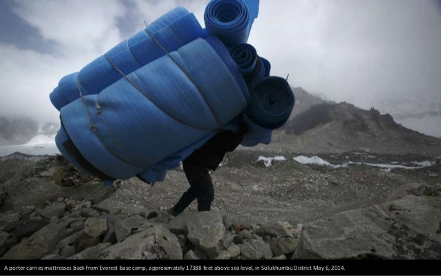 Everest base camp is seen approximately 17388 feet above sea level in Solukhumbu District May 6, 2014.