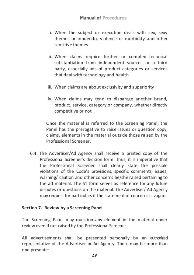 Ad standards council philippines for responsible advertising guideb the following conditions 46 fandeluxe Images