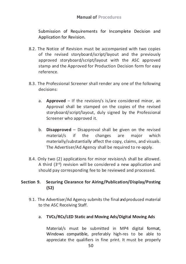 ad standards council philippines for responsible advertising guideb rh slideshare net manual of requirements nj manual of requirements for family child care registration