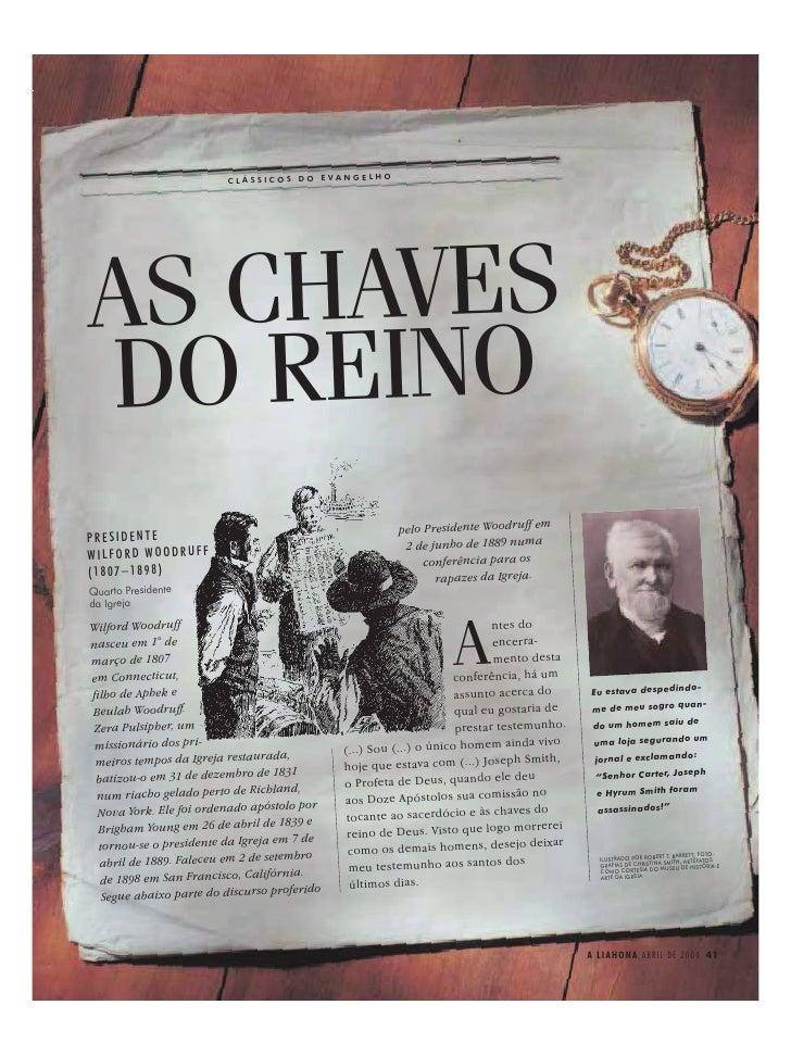 CLÁSSICOS DO EVANGELHOAS CHAVESDO REINO                                                          pelo Presidente Woodruff ...