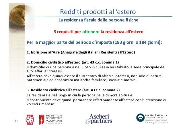 Tassazione dei redditi prodotti all estero londra - Domicilio e residenza diversi ...