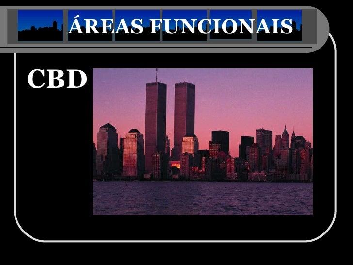 ÁREAS FUNCIONAIS   <ul><li>CBD </li></ul>
