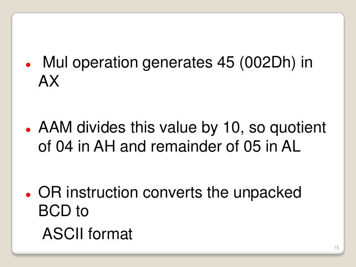 how to convert bcd to ascii manually