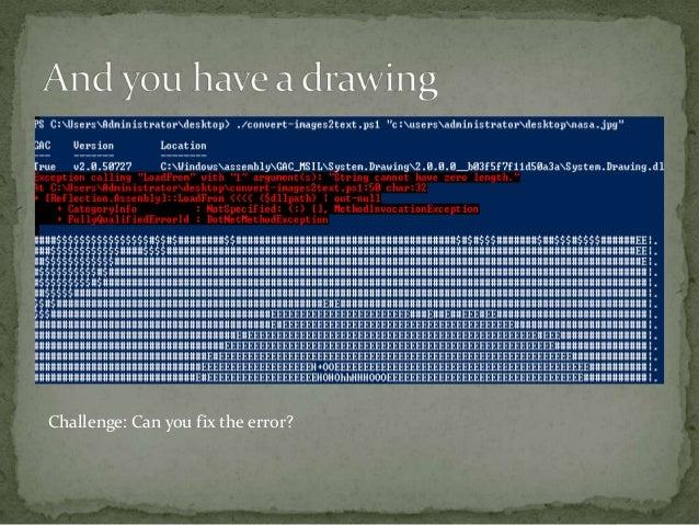 Ascii art in windows power shell