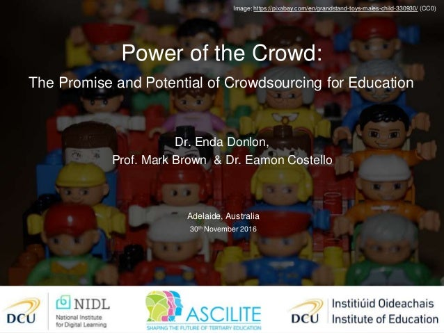 Image: https://pixabay.com/en/grandstand-toys-males-child-330930/ (CC0) Dr. Enda Donlon, Prof. Mark Brown & Dr. Eamon Cost...