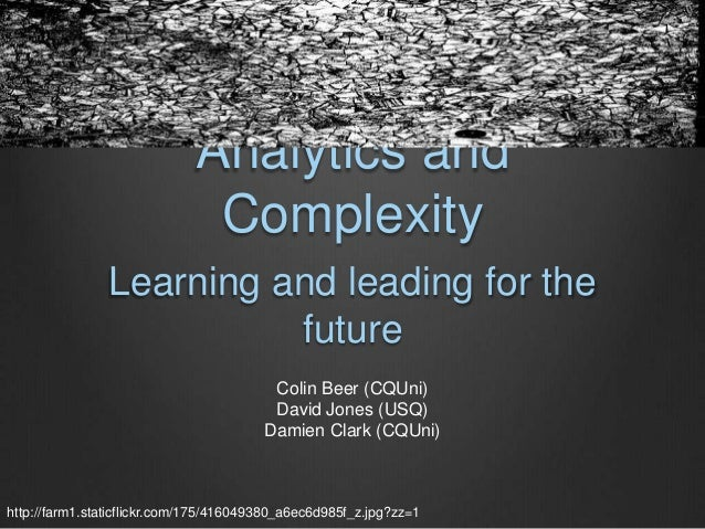 Analytics and                              Complexity               Learning and leading for the                         f...