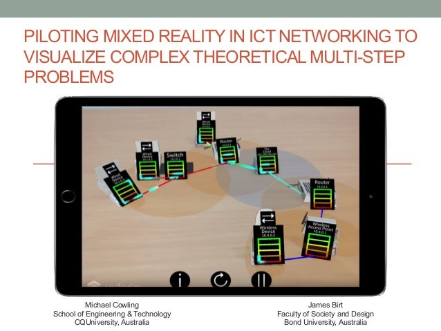 PILOTING MIXED REALITY IN ICT NETWORKING TO VISUALIZE COMPLEX THEORETICAL MULTI-STEP PROBLEMS Michael Cowling School of En...