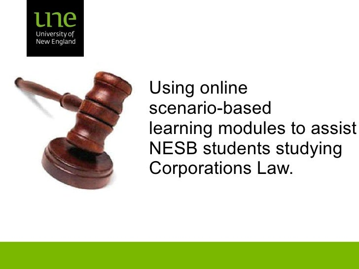 Using online  scenario-based  learning modules to assist NESB students studying  Corporations Law.