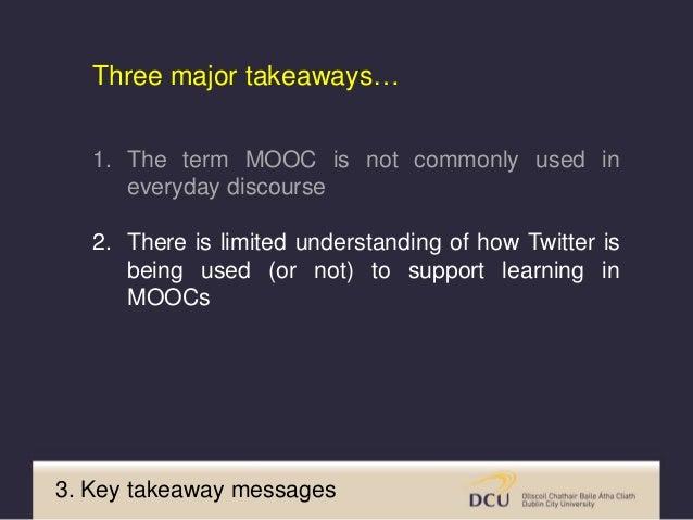 3. Key takeaway messages https://www.class-central.com/report/top-moocs/