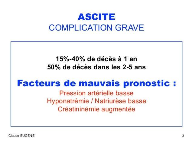 Ascite au cours de la cirrhose : traitements Slide 3