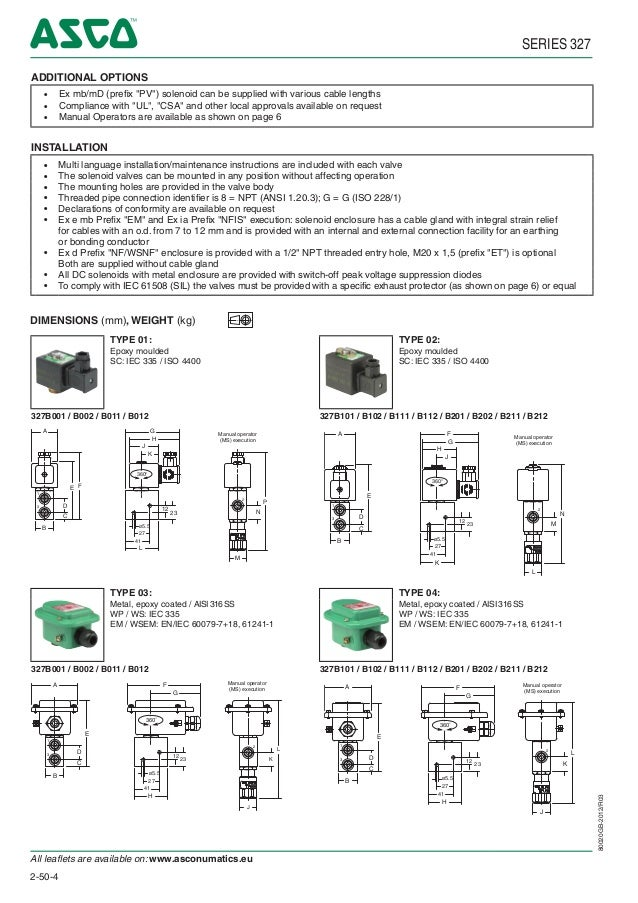 asco atex solenoid valves 327 series spec sheet on asco wiring diagram