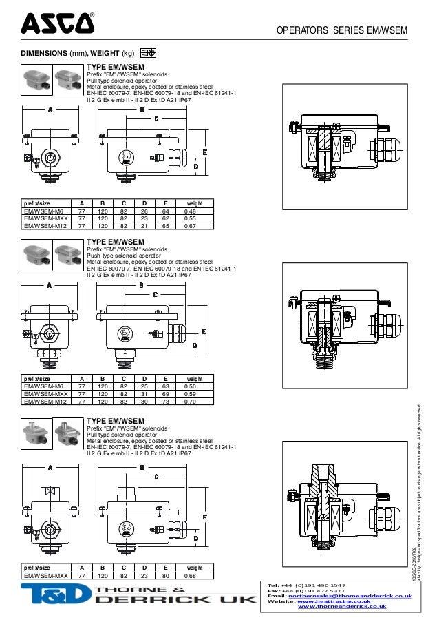 asco em wsem atex iec ex flameproof explosion proof operator hazardous area solenoid valve operator ex emb operator zone 1 zone 2 2 638 asco valve wiring diagram diagram wiring diagrams for diy car asco red hat wiring diagram at eliteediting.co