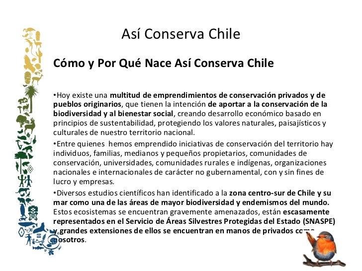 Así Conserva Chile  Slide 2