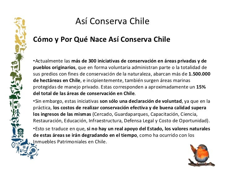 Así Conserva Chile  Slide 3