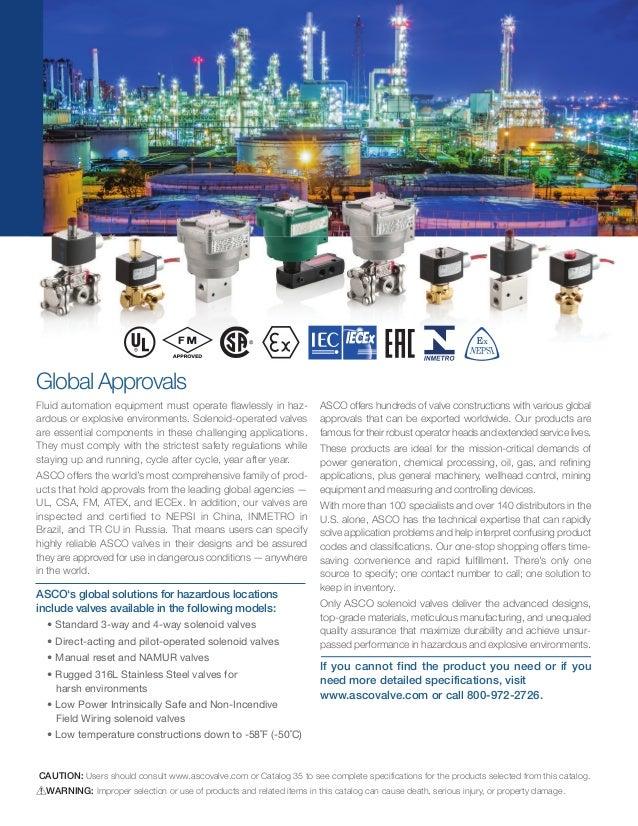 ASCO Solenoid Valves - Hazardous Area ATEX Certified Valves - New Catalogue Slide 2