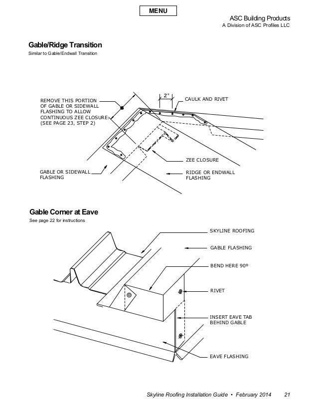 """ASC Building Products A Division of ASC Profiles LLC Skyline Roofing Installation Guide • February 2014 21 """" REMOVE THIS P..."""