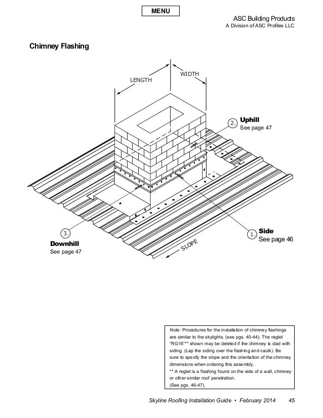 ASC Building Products A Division of ASC Profiles LLC Skyline Roofing Installation Guide • February 2014 45 3. 1. 2. SLOPE ...