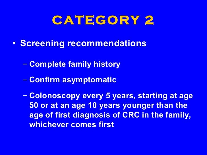 colon cancer colonoscopy screening guidelines
