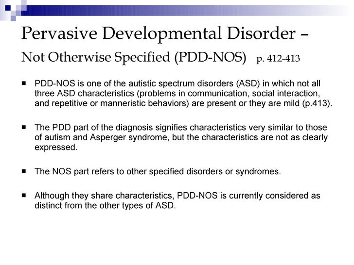 the clinical description of the pervasive developmentspectrum disorder or autism Investigators want to understand why and how this difference may contribute to the symptoms of autism spectrum disorder (asd) in this study, the investigators will be examining the effects of non-invasive neuromodulation squed series 281 home-use for treatment of autowave reverberator of autism.