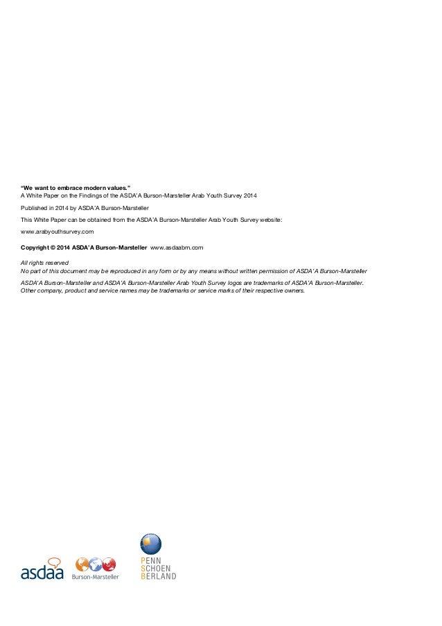 ASDA'A Burson-Marsteller Arab Youth Survey 2014 Whitepaper Slide 2