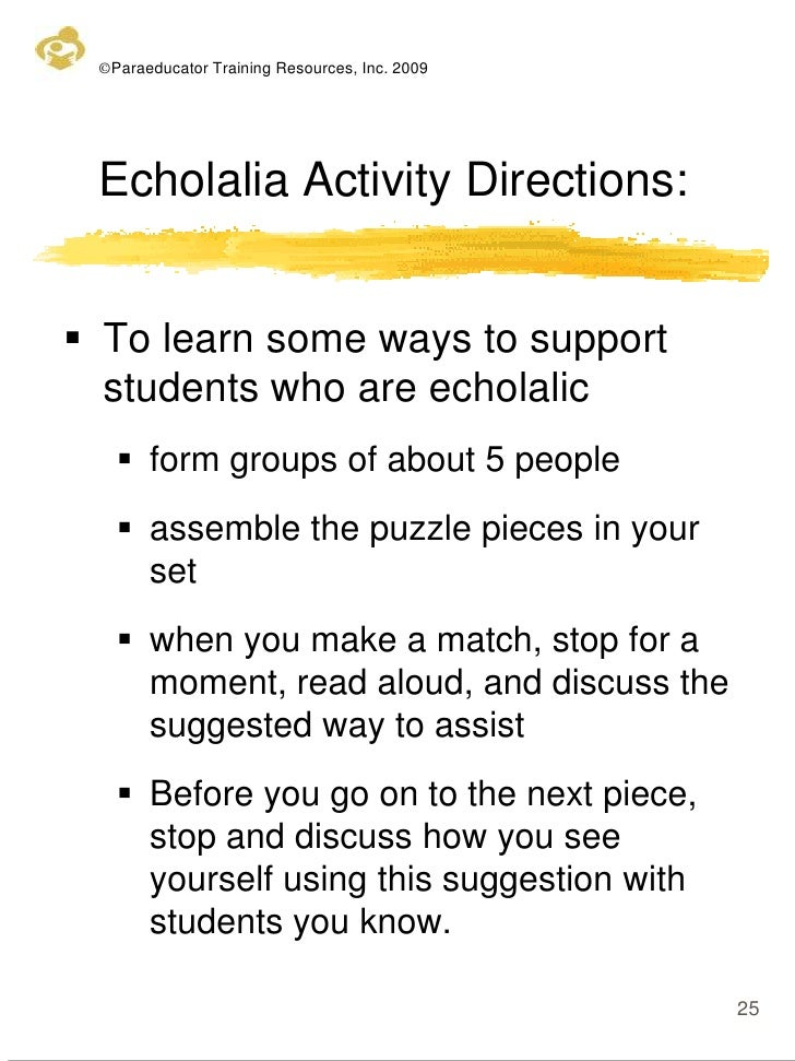 Echolalia Example Gallery Example Cover Letter For Resume