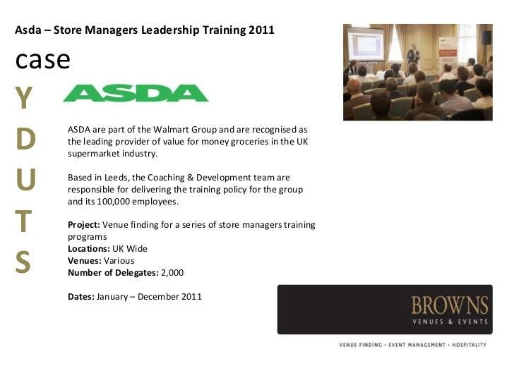 Asda leadership and management