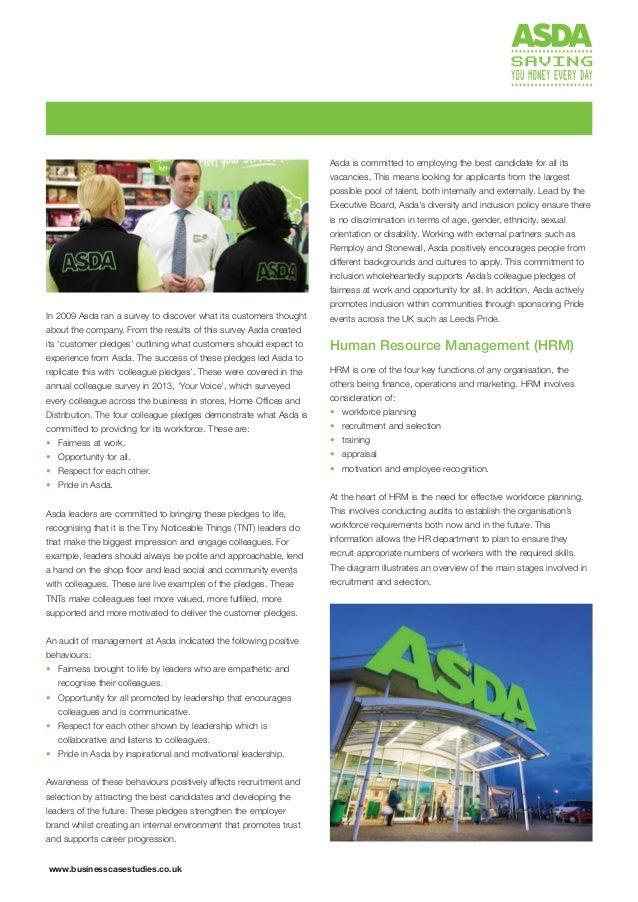 Asda Recruitment And Selection
