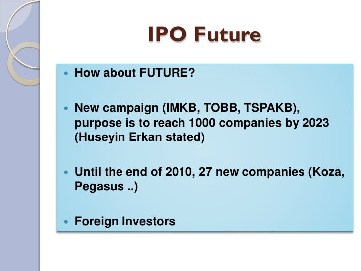 Is goal of investment banking ipo