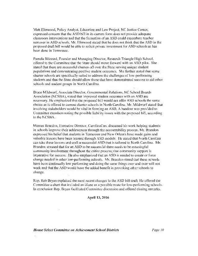 ASD Committee Report