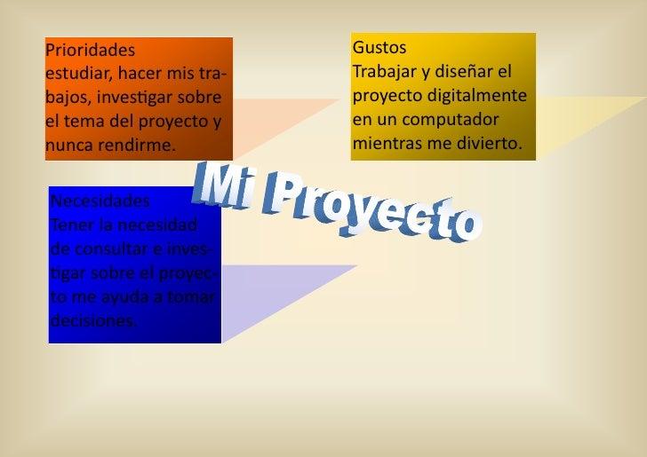 Prioridades                Gustosestudiar, hacer mis tra-   Trabajar y diseñar elbajos, investigar sobre    proyecto digit...