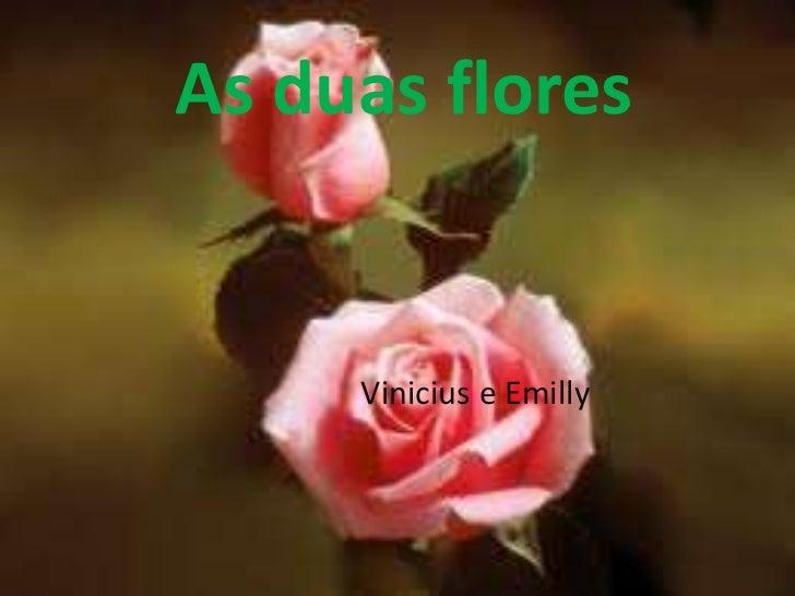 As duas flores <br />Vinicius e Emilly<br />