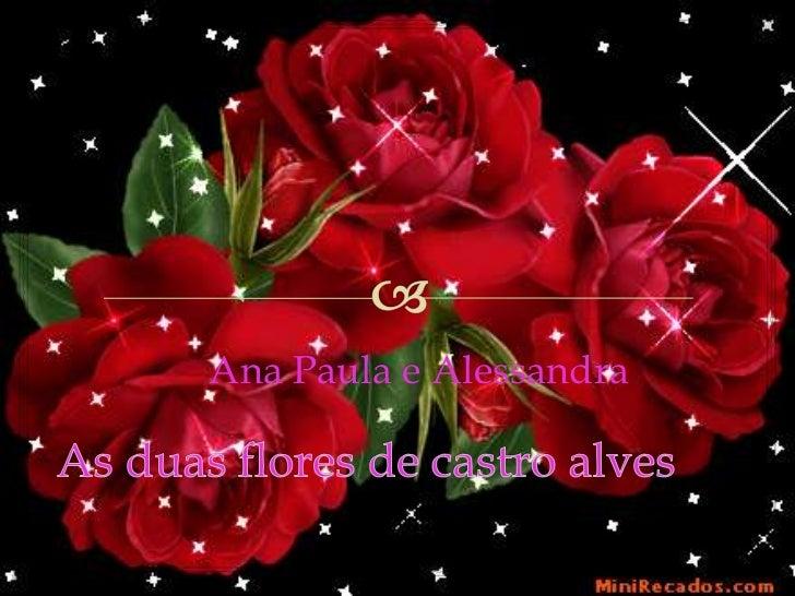 Ana Paula e Alessandra<br />As duas flores de castro alves<br />