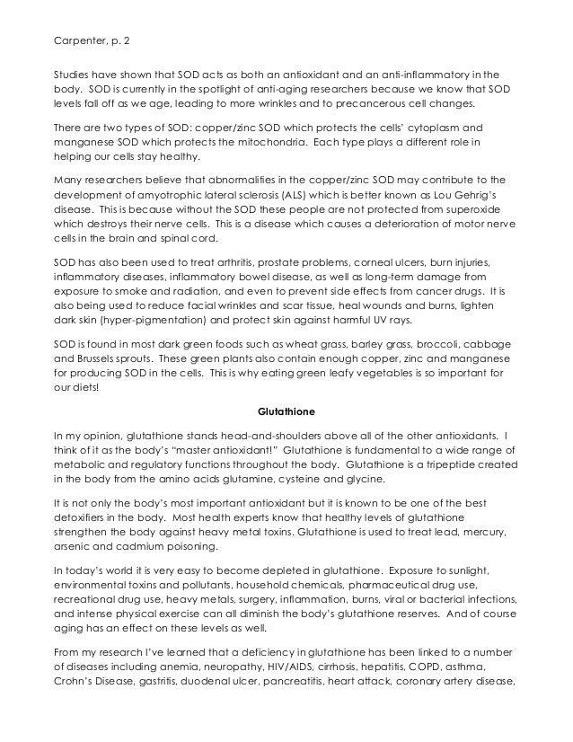 ASEA increases Glutathione, Superoxide Dismutase by over 500% Slide 2