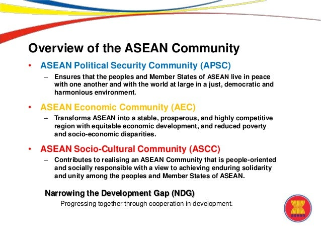 challenges asean will face in establishing a community The ascc brings people at the heart of its regional community building, bringing a human face to the performing asean community that and challenges of asean.