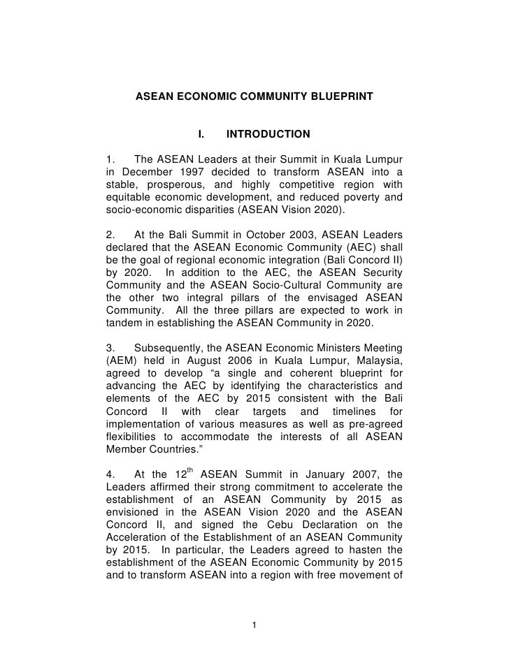 Asean economic community blueprint 1 728gcb1276740550 asean economic community blueprint i introduction 1 malvernweather Image collections