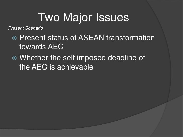 transformation of asean community to aec Asean economic community to spur urgency for digital transformation digital technology has the potential to create the right springboard for commerce and substantial economic growth for the.