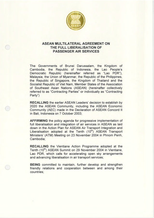 Asean Multilateral Agreement On Air Services