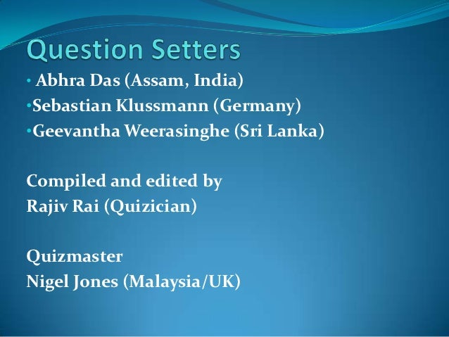 Asean quiz championship_2012 Slide 3