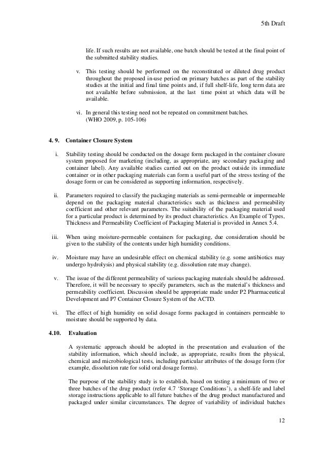 ASEAN Guideline for Stability | Química | Bem-estar